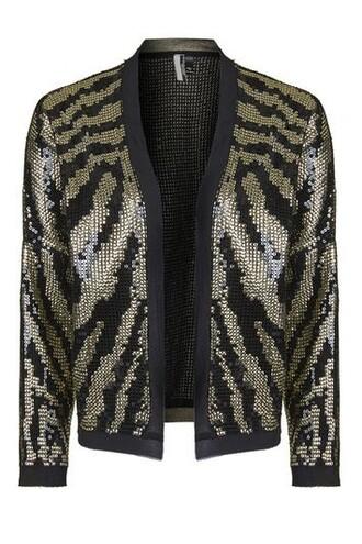 jacket sequin jacket tiger black