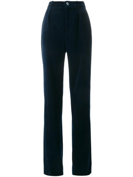 gucci women cotton blue pants