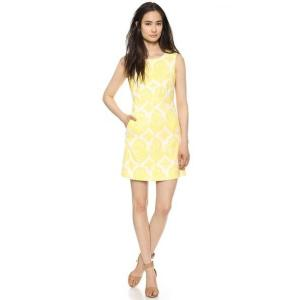 Diane Von Furstenberg Canary Yellow and White Carpreena Mini Dress - Floral - Sale
