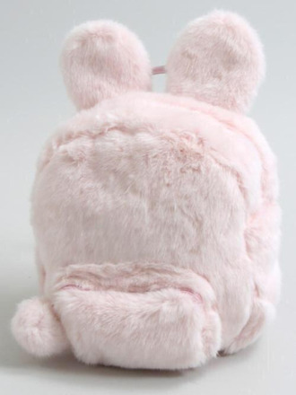 bag jfashion j-fashion pastel bunny cute fluffy nymphet lolita kawaii kawaii accessory pink fluffy pink bag bear ears fur backpack all pink wishlist girly fuzzy backpack furry backpack