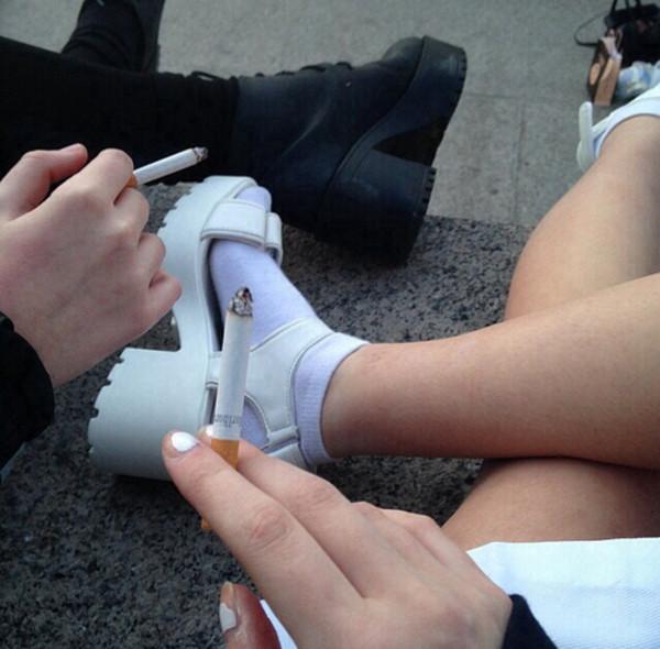 shoes chunky sole sandals platform shoes monochrome grunge punk 90s style platform sandals