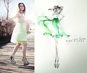 dress,green,short,prom dress,fashion,talk about prom,green dress,pastel,photography,model,drawing
