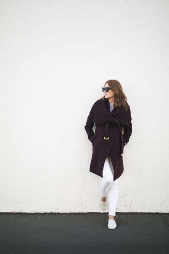 could i have that blogger jeans sunglasses slippers burgundy fall outfits coat top shoes