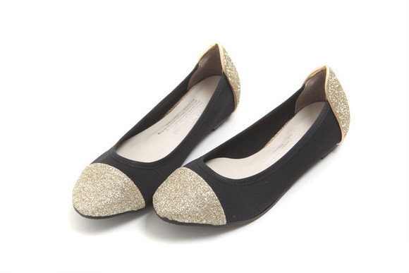 shoes flats gold flat flat shoes
