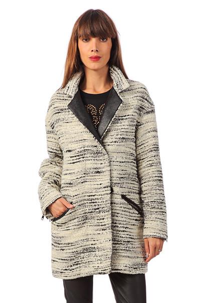 Manteau avec laine Nash Blanc / Ecru Gat Rimon  sur MonShowroom.com