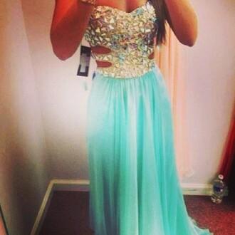 dress mint dress mint green dress diamonds diamond dress prom dress
