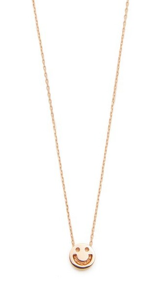 friends rose gold rose necklace gold jewels