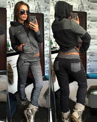 jumpsuit zefinka fall outfits winter outfits urban streetwear streetstyle girly tumblr tumblr outfit nike chanel brand casual knitted cardigan winter sports