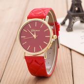 jewels,geneva,fashion watch,leather strap,women watch,gift watch,love,accessories4all