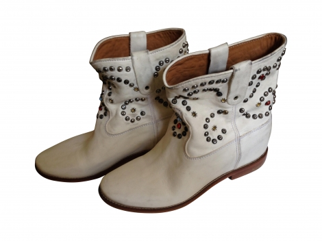 Bottines & low boots motards caleen ISABEL MARANT 40 blanc neuf avec étiquette
