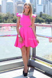 dress,xeniaboutique,fashion,party dress,pink dress,ootd,ootn