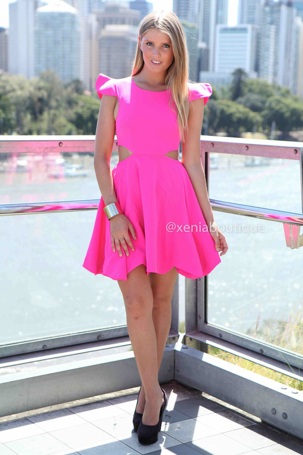 dress xeniaboutique fashion party dress pink dress ootd ootn