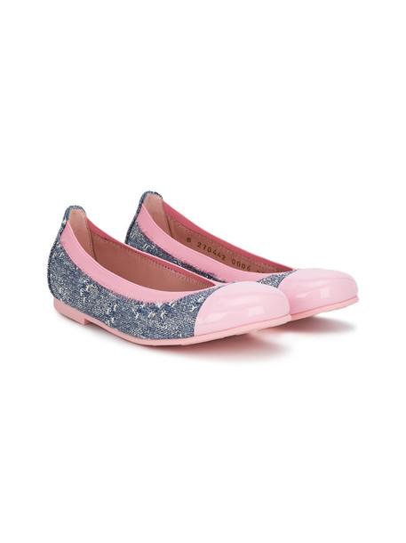 denim shoes leather purple pink