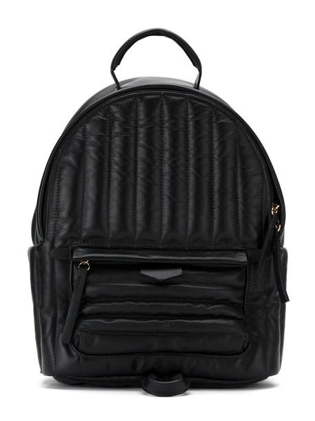 Sarah Chofakian women quilted backpack black bag