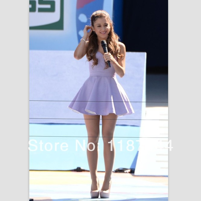 Ariana Grande Short Lavender Halter Party Homecoming Dresses Formal Ball Gown Prom Skirts-in Celebrity-Inspired Dresses from Apparel & Accessories on Aliexpress.com