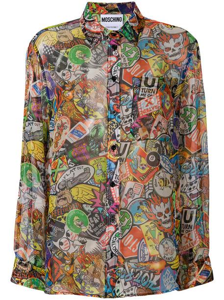 Moschino shirt women silk pattern top