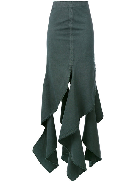 JW Anderson skirt long women cotton green