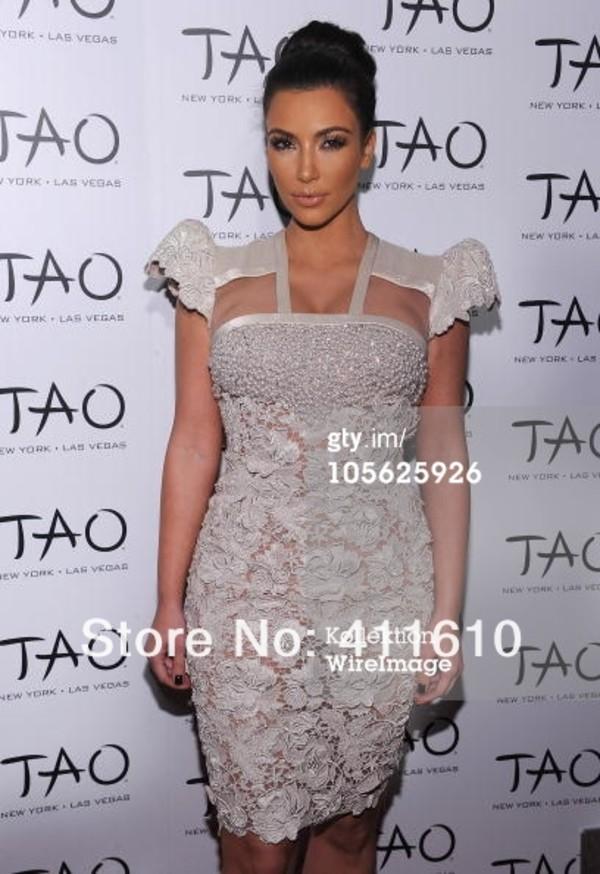 dress celebrity style beading