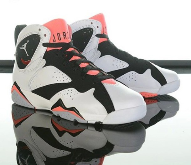 newest f87fa 589ab shoes jordan retro 7 jordans black and white pink jordans 7