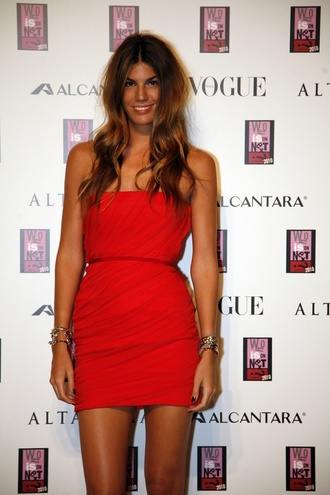 dress bandeau red bodycon ruched dress
