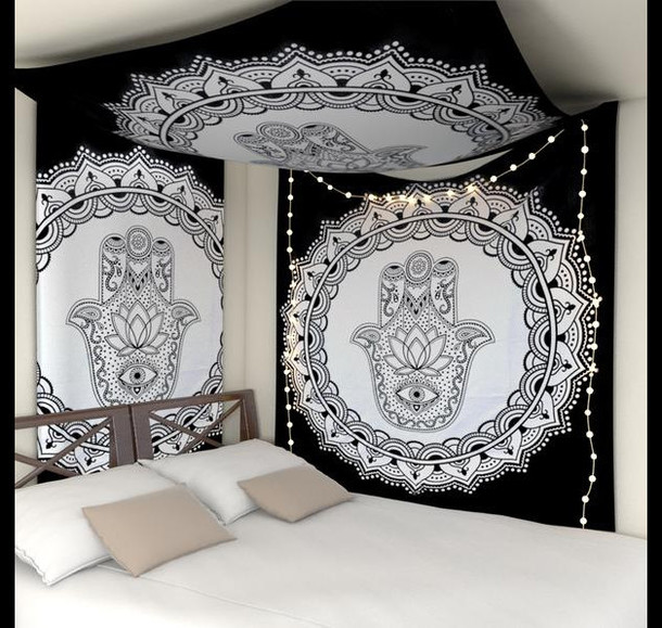 8 Bohemian Chic Teen Girl S Bedroom Ideas: Home Accessory, Tapestry, Mandala Tapestries, Home Decor