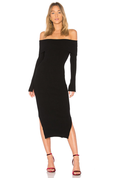 MILLY dress off the shoulder black