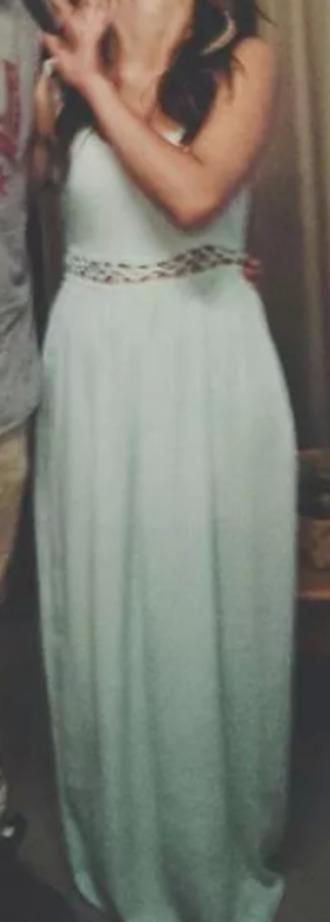 dress maxi turquoise evening dress