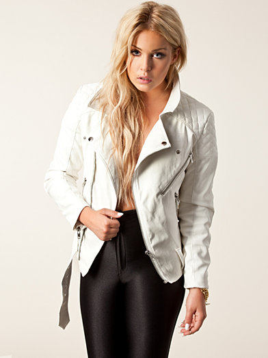 Fuck Yeah Biker Jacket - Fanny Lyckman For Estradeur - White - Jackets And Coats - Clothing - Women - Nelly.com Uk
