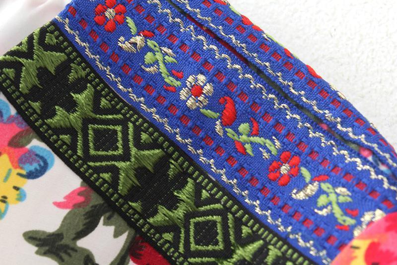 Floral Printing Long Sleeves Cotton Short Jacket