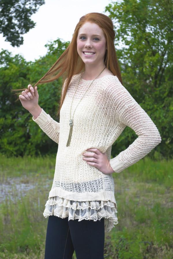 blouse knit long sleeves fall collection shopsiloe