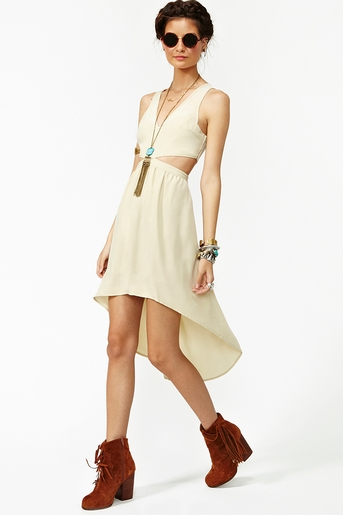 Serene cutout dress in  clothes dresses at nasty gal