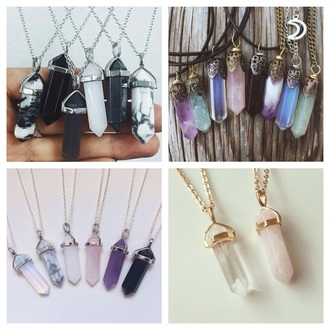 jewels jewelry necklace quartz crystal quartz