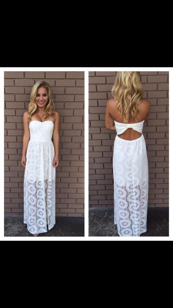 dress maxi dress long dress white dress lace dress elegant long dresses white