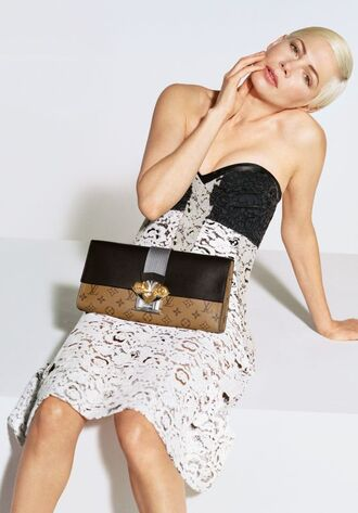 dress purse louis vuitton michelle williams strapless bustier dress