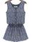 Blue sleeveless floral slim buttons jumpsuit