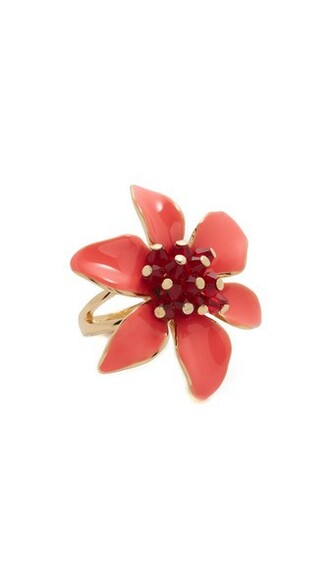 lovely ring coral jewels