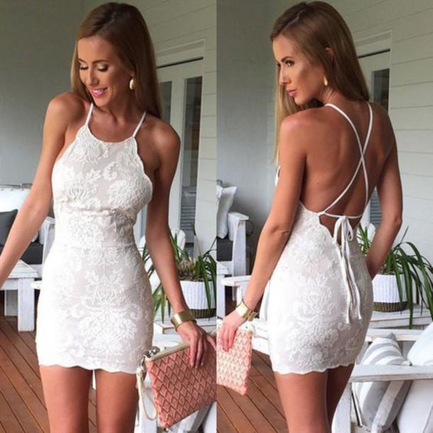 dress lace dress lace boho dress dressofgirl white summer dress summer summer holidays