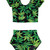 Mary Jane Weed Print High Waisted Two Piece Bikini - PressPlay Fashion Australia