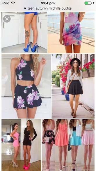 skirt floral two piece dress set two-piece lookbook