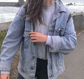 jacket denim denim jacket 90s style grunge style
