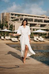 dress,white dress,midi dress