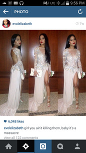 dress,white dress,prom dress,slit dress,open back prom dress,long sleeve dress,sheer top dress,long dress,sparkly dress,see through dress,diamonds,shoes,betsey johnson,evolelizabeth,prom,gown,jovani prom dress,prom dresses 2015 us,nude dress,ball gown dress,backless dress,backless prom dress,sequin dress,sequins,sequin prom dress,long prom dress,prom gown,cut-out dress,low back dress,low back,silver,silver dress,silver sequin dress,light pink,white,cream,jewels,jeweled,sparkle,long,shorts