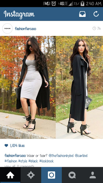 bodycon dress tight cotton grey dress cute dress dress