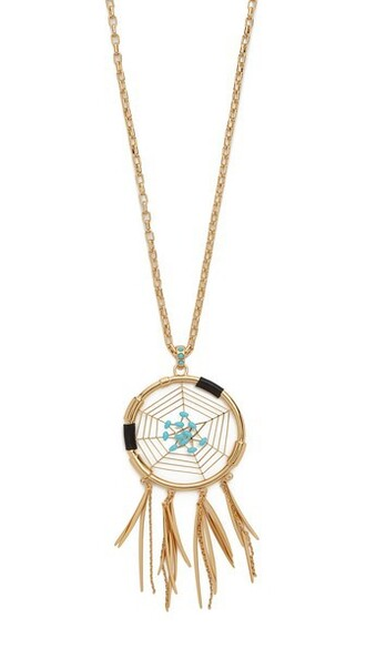 necklace pendant gold turquoise jewels