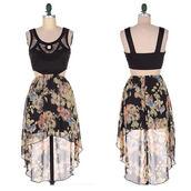 dress,sylvi label,side cutout dress,floral,floral dress,festival dress