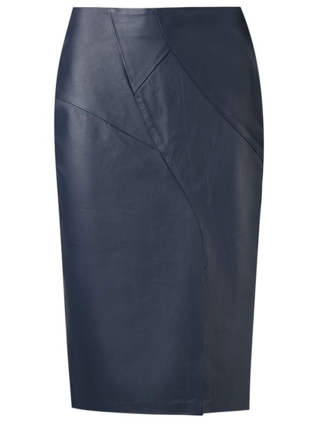 Tufi Duek skirt midi skirt fur women midi leather blue