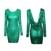 dress,style,sequin dress,emerald green,backless dress,shiny,elegant dress