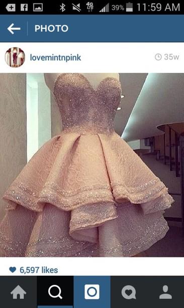 dress pink dress fancy dress sweet 16 dresses