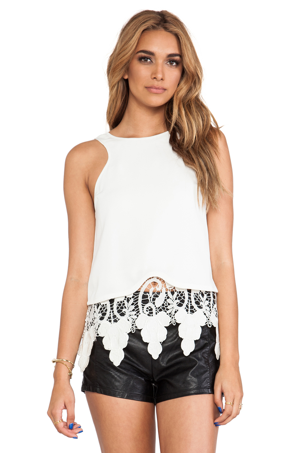 Style Stalker Engine Top in White | REVOLVE