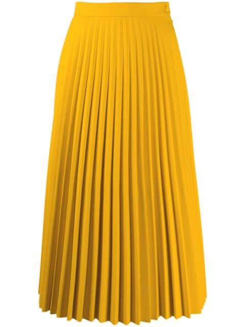 Mm6 Maison Margiela Pleated Skirt - Farfetch